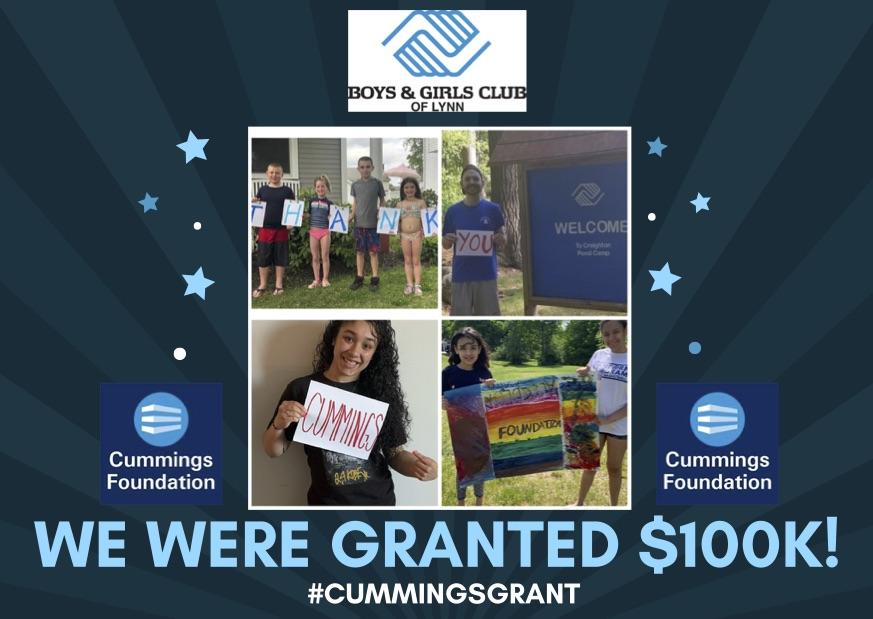 Cummuings Foundation $100k Grant